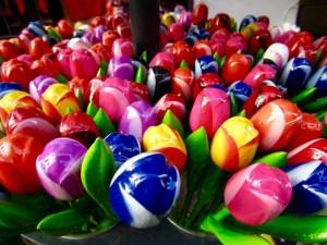 Wooden tulips...
