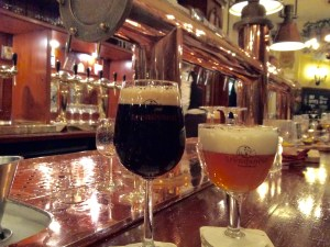 Our beers at Arendsnest, a Zakkendragger Imperial Porter and a Smokey Au Vin sour Belgian ale. Delicious!