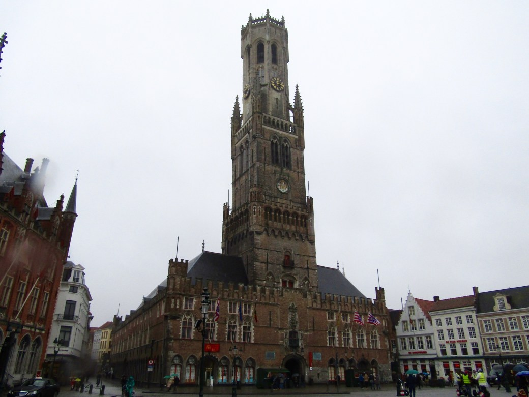 The Belfry in Bruges's main square.