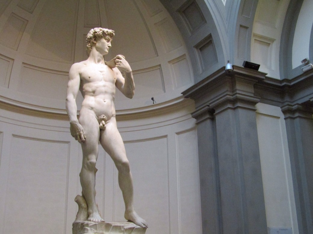 There are a ton of amazing sights and experiences in Florence, but our first day was all about seeing David. Michelangelo's iconic statue of a naked David after slaying Goliath stands in the heart of the Galleria dell'Accademia. The museum was originally intended to be the quintessential collection of the Master's work, but in the end, it only contains a few of Michelangelo's unfinished works and, of course, David.