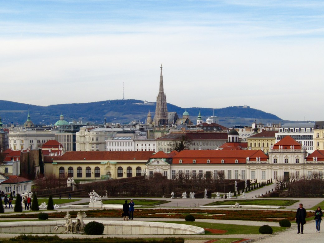 View of Vienna from the Belvedere Palace complex.