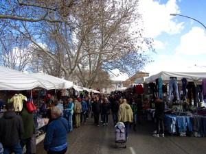 The Porta Portese Flea Market in Trastevere.