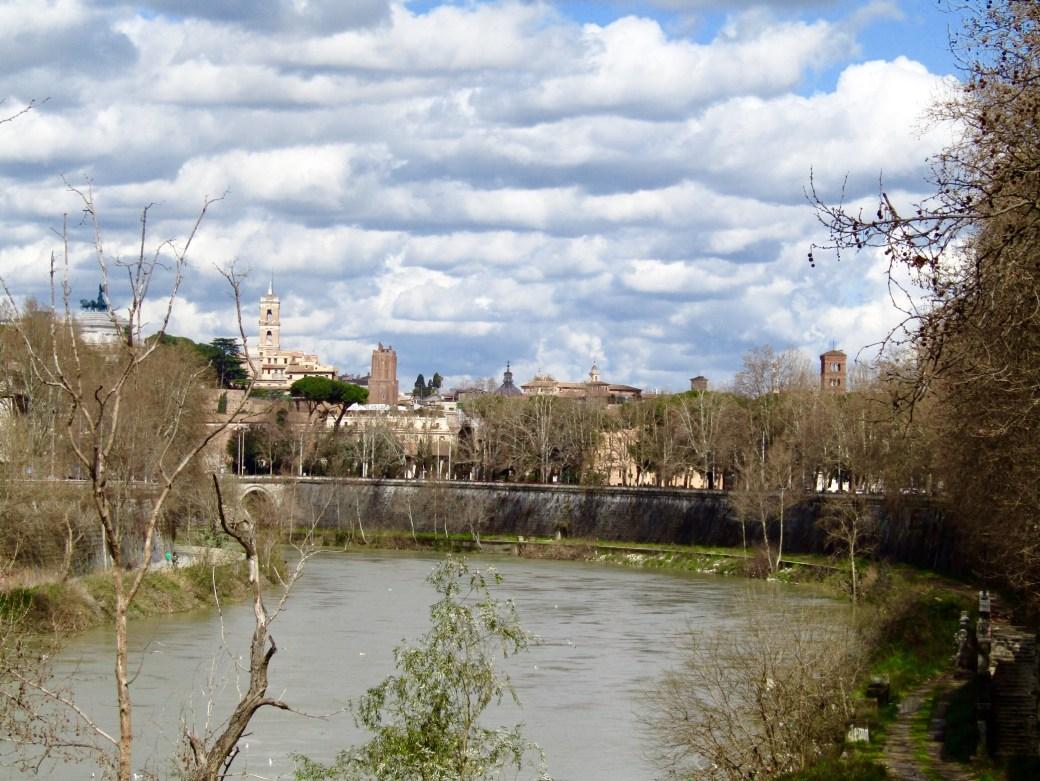 Looking back toward Testaccio from the Ponte Testaccio bridge.