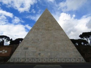 The 2000-year-old Pyramid of Cestius was built after Rome's conquest of Egypt.