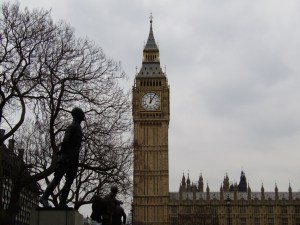 Elizabeth Tower (Big Ben) from Parliament Square.