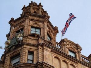 The famous Harrod's department store in London's Knightsbridge neighborhood.