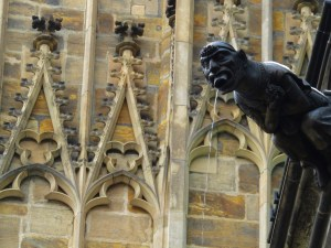 The gargoyles at St. Vitas were working overtime thanks to all the melting snow.
