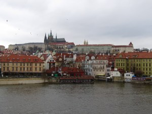 A much clearer view of Prague Castle from the Charles Bridge than our first day inspired by a screenshot my brother sent us from the television show Grimm.