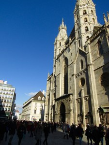 St. Stephen's Cathedral in the middle of Vienna's historic city center.