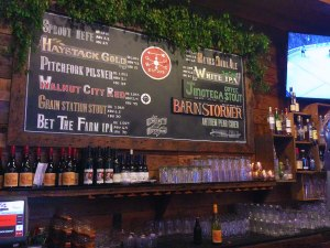 The spring tap list at Grain Station Brew Works in McMinnville, Ore.