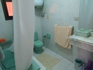 The bathroom in House 1