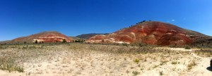 The first view of the hills as you enter the John Day Fossil Beds National Monument.