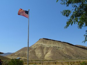View from the Painted Hills Ranger Station.