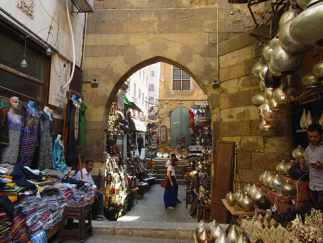 An alley of the Khan el Khalili market.