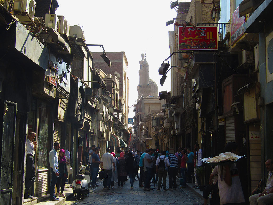 This street featured the gold shops (some were closed) and street food. Do you see the flatbread vendor?