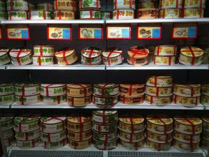 The refrigerated cakes section. The boxes are so pretty. It was tempting to want to try them all.