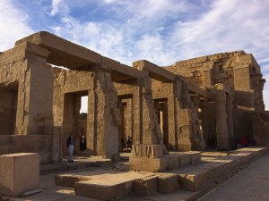 Kom Ombo's was designed for two gods, unique in Egyptian temple design. Each side is a mirror image of the other.