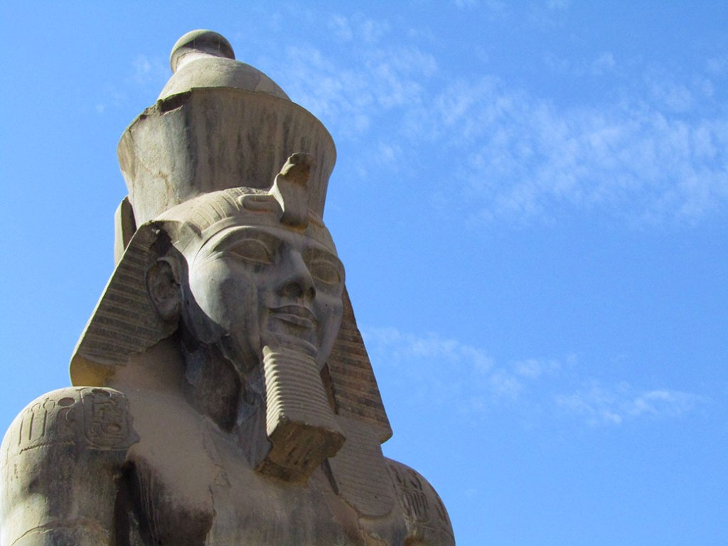 Statue of Ramses II in Luxor Temple.