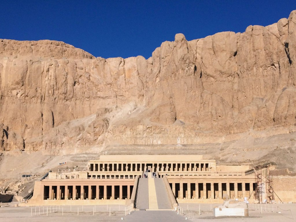 The Mortuary Temple of Hatshepsut near Luxor's Valley of the Kings.