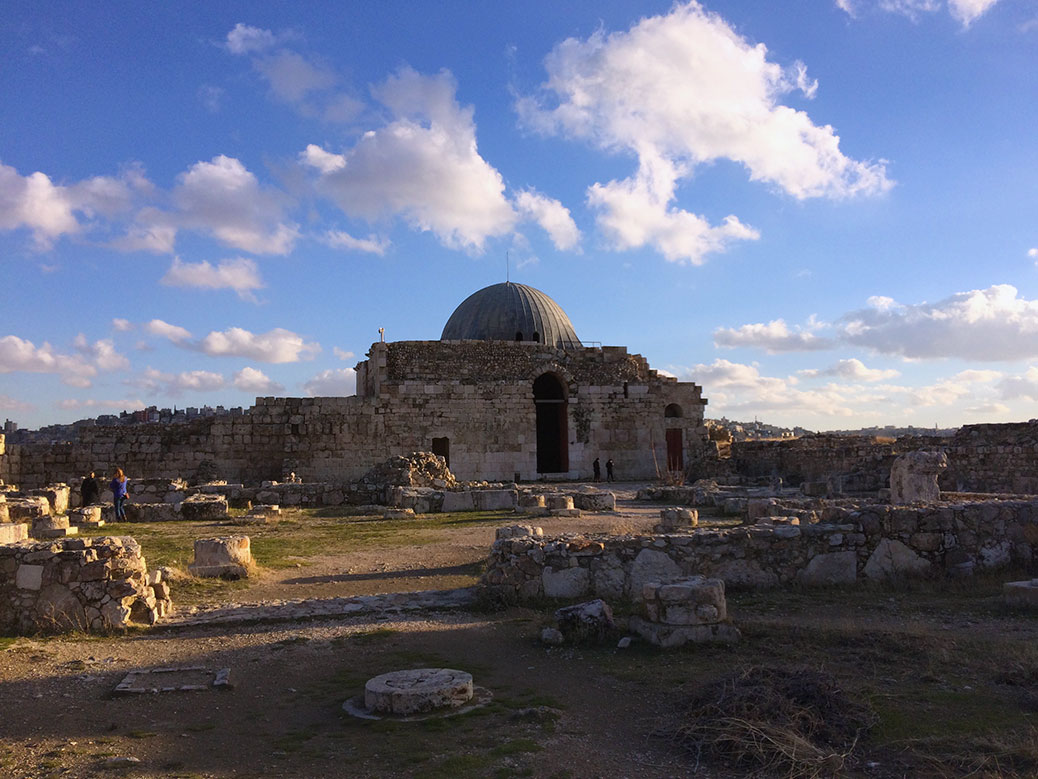 Built around 730 A.D., Umayyad Palace in the Amman Citadel was likely a home and office for the governor of Amman. An earthquake in 749 destroyed much of the palace. The dome was only recently restored.