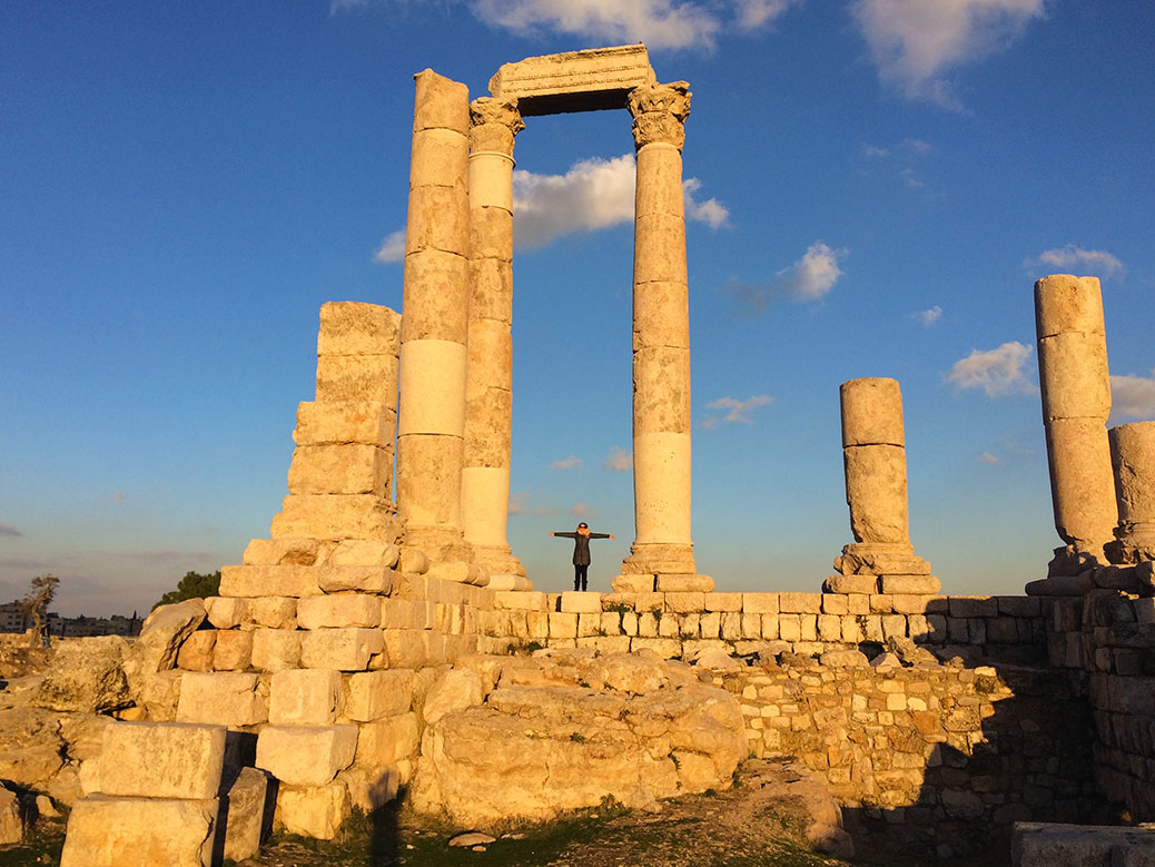 The Temple of Hercules at sunset.