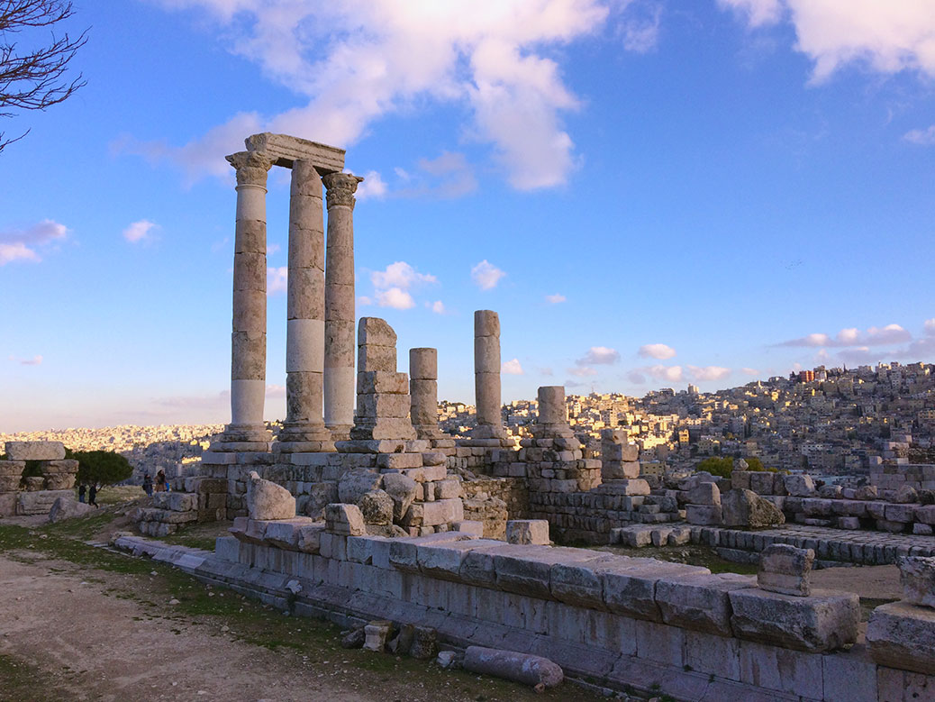 The Temple of Hercules is one of Amman's many remnants of the Roman Empire.