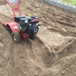 Preparing the ground for the garden soil