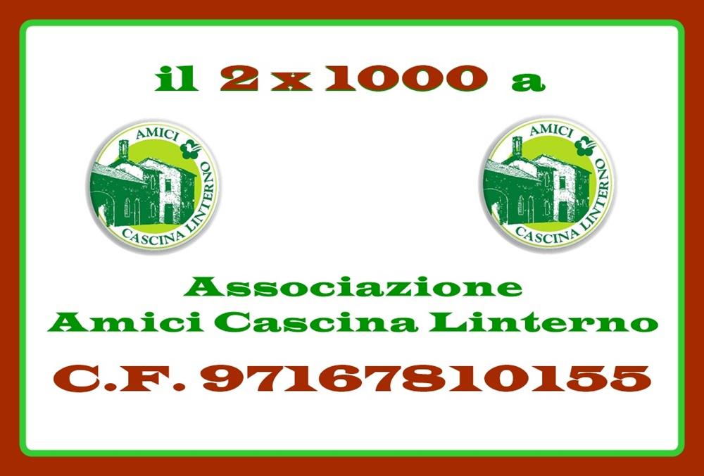 2×1000 all'Associazione Amici Cascina Linterno