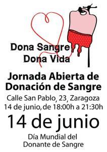 Jornada de Donación de Sangre. 14 junio, desde 18:00h. C/San Pablo 23, local.