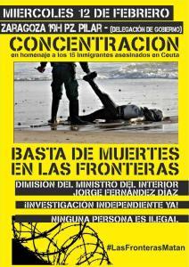Concentración. Miércoles 12FEB, 19h, Pz. Pilar (frente Delegación de Gobierno)
