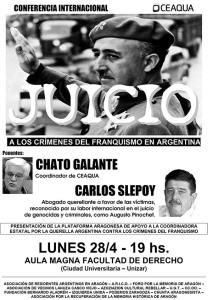 Juicio a los crímenes del Franquismo en Argentina - CEAQUA Aragón