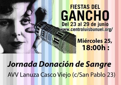 Donación de Sangre en las Fiestas del Barrio de San Pablo. Zaragoza