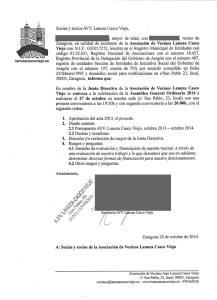 Asamblea general ordinaria 2014, AVV Lanuza Casco Viejo