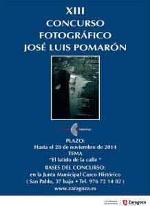 JUNTA MUNICIPAL CASCO HISTÓRICO, XIII CONCURSO FOTOGRÁFICO JOSE LUIS POMARÓN, Noviembre 2014