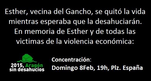 Concentración, domingo 8 de febrero, 19h, Plaza España.