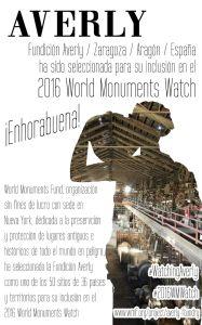 Averly incluida en el 2016 World Monuments Watch