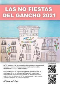 Cartel no fiestas del Gancho 2021