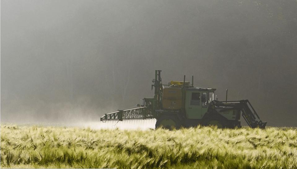 truck spraying crops