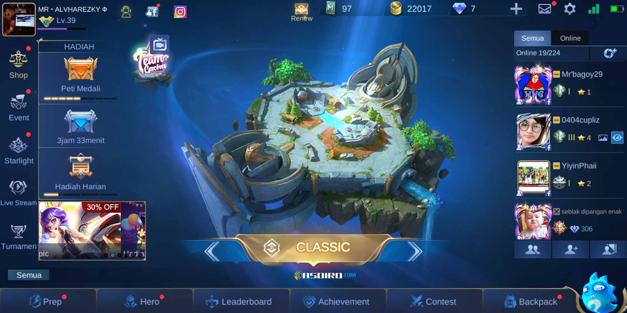 Mode Classic di Mobile Legends Apk