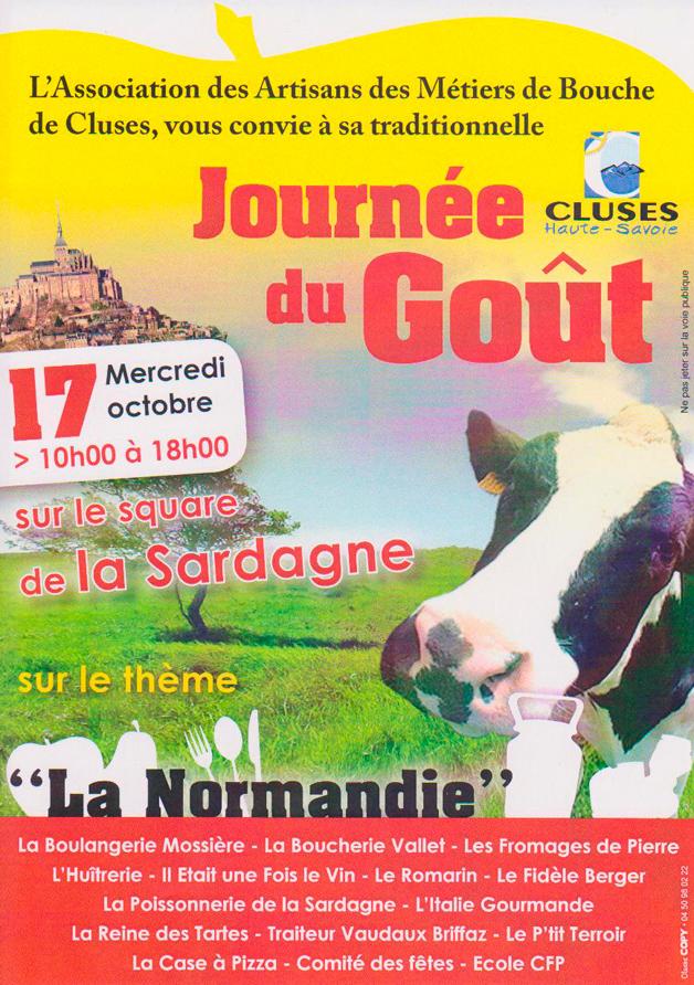 Affiche de la Journee du Goût 2012 à Cluses
