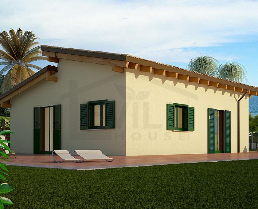 Elettra  Progetto casa in bioedilizia  Case prefabbricate in legno
