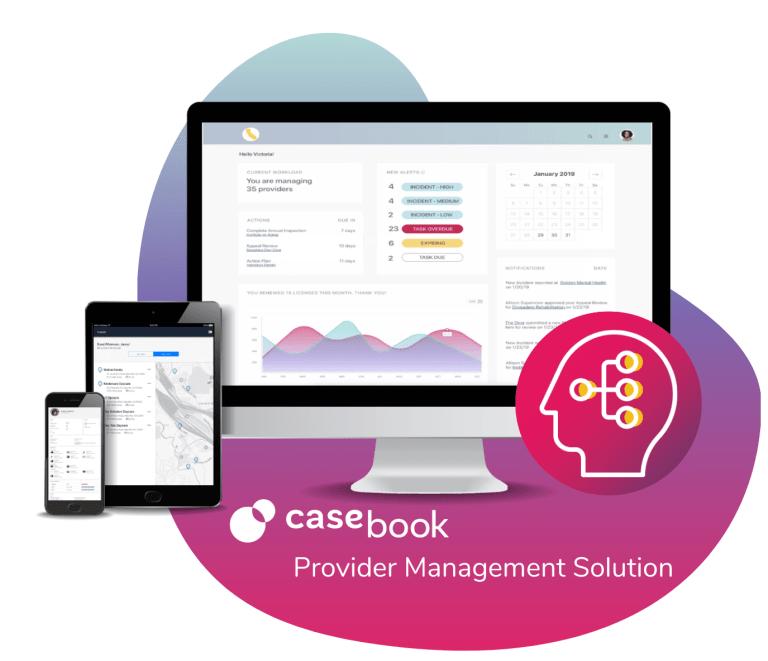 casebook provider management solution software