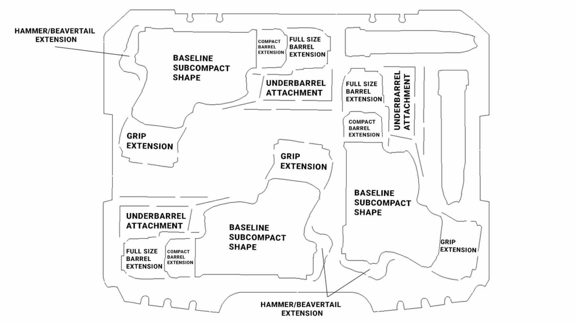 hight resolution of pistol foam design diagram