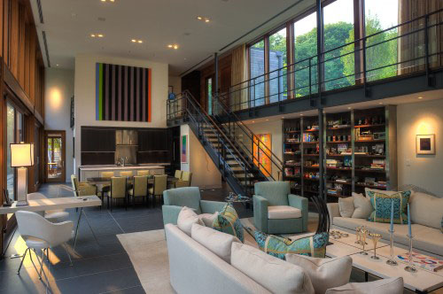 Ziger/Snead Architects Designed This Great Room. The New House Was Sited To  Take Advantage Of The Existing Grading And So The New Great Room Is Located  ... Part 74