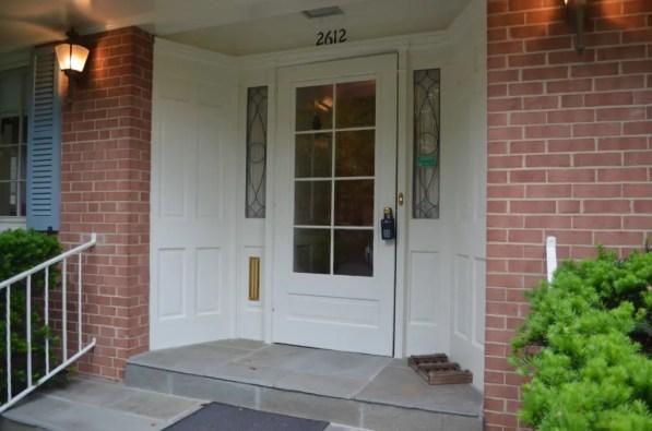 Before front door