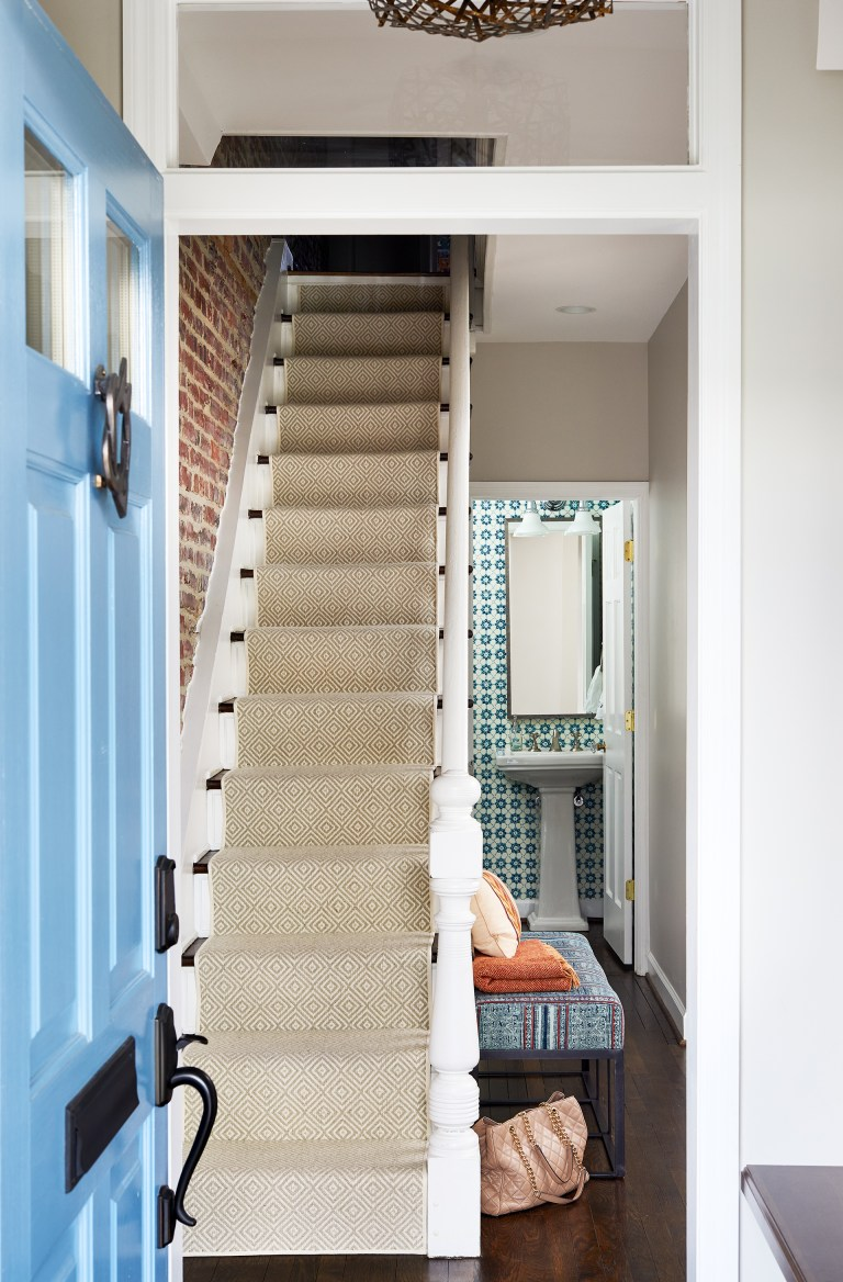 entryway and staircase in DC townhouse