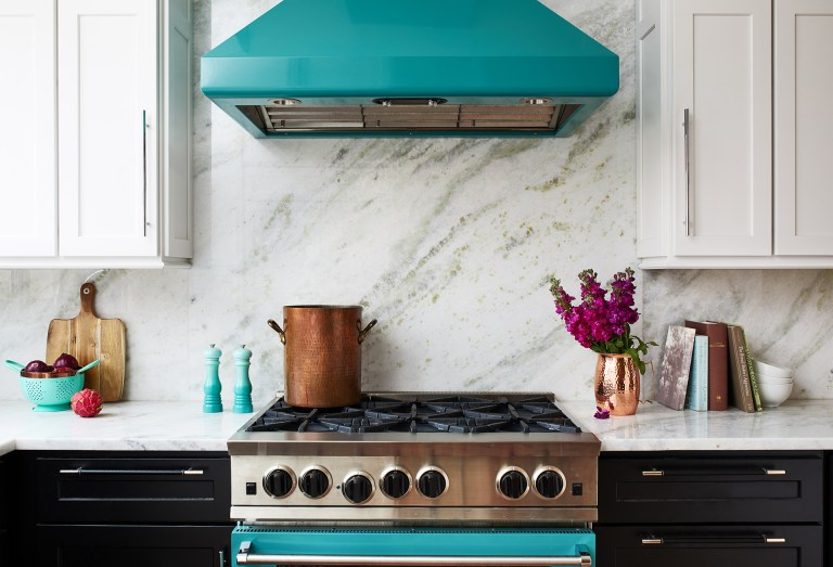 dc ktichen remodel with marble backsplash with matching counter ops