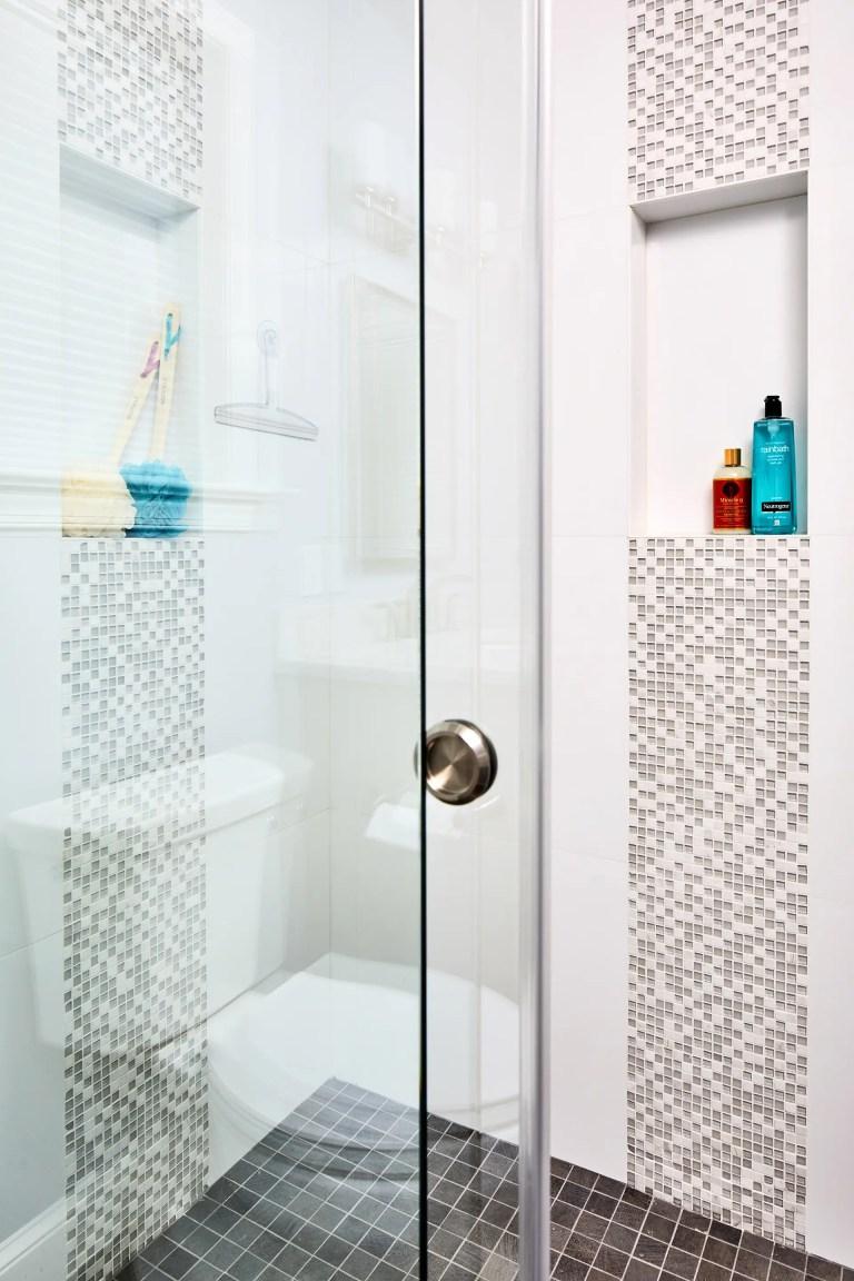 bathroom remodeling frame less sliding shower door with clear glass