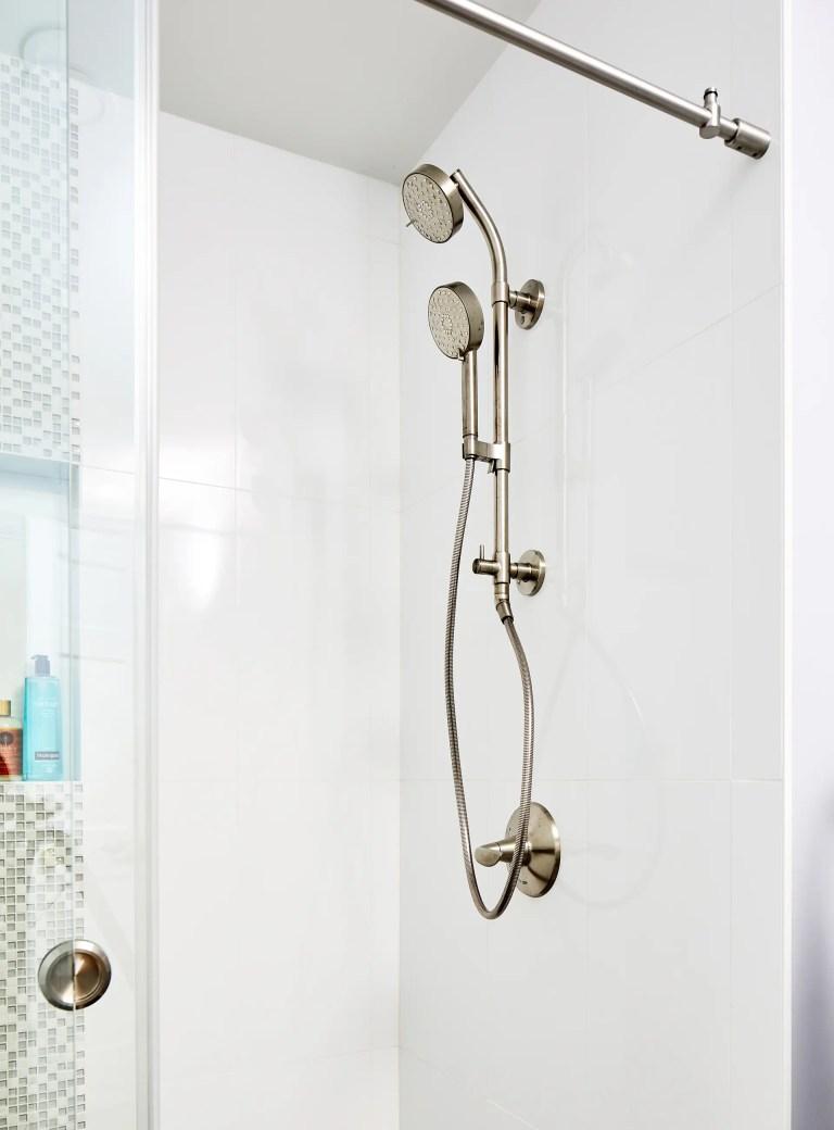 case design bathroom with shower head with handheld spray high pressure adjustable showerhead