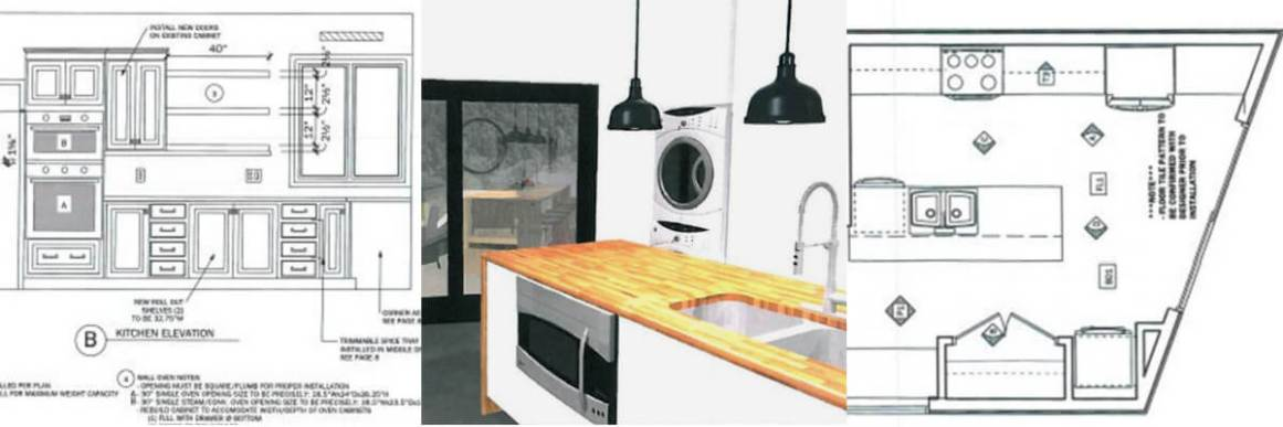 renderings drawings kitchen design case halifax